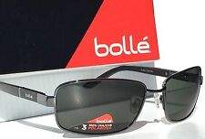 b7042b6cd3 NEW  Bolle SOSKO Gunmetal Matte BLACK Satin Grey Polarized Sunglass 11875   190