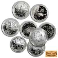 Random Year & Design Commemorative  Silver Dollar, PROOF /MS,Lot of 1 - #A16457