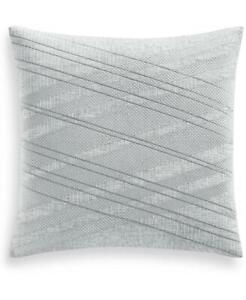 """$150.00 Hotel Collection Lateral 20"""" Square Decorative Pillow, Gray"""