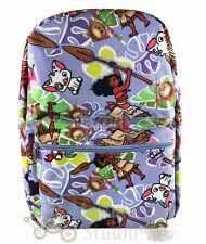 """16"""" Disney Moana Large Purple School Book Backpack Moana, Maui, Pua, Heihei"""