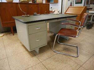 Original Mauser Schreibtisch Art Deco- Bauhaus 40er-50er Jahre