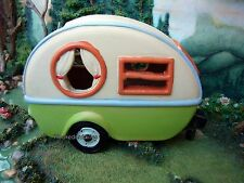 Miniature Garden Trailer w Solar Light MG 508 Dollhouse  Fairy Gnome Garden