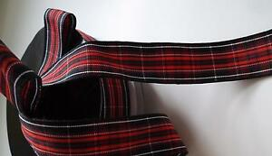 Pride of Wales Tartan Ribbon 10mm 15mm 25mm widths