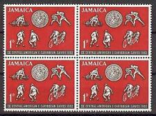 Jamaica 1962 Sc# 197 Soccer Boxing Cycling Caribbean games block 4 MNH