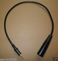 3.5mm to xlr 3pin male Cable Adapter for Wireless Mic System Camera, Vidicon