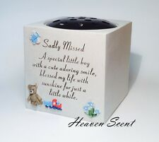 Memorial For Little Boy Grave Flower Vase Rose Bowl Pots Baby Babies Children