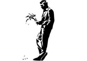 BANKSY CRUSH STENCIL REUSABLE FROM A4 180 mc