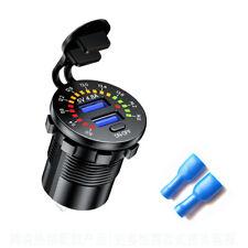 5v 48a Dual Usb Cars Fast Charging Charger Socket Amp Led Voltmeter Display Parts Fits Isuzu