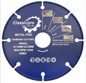 """CLASSICPRO 115mm 4.5"""" ULTRA FAST METAL CUTTING  BLADE DISCS FOR ANGLE GRINDER.."""
