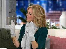 ED On Air Cashmere Blend Glove & Scarf Set by Ellen DeGeneres H207162 Gray L/XL