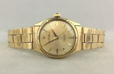 MUST SEE !! VINTAGE 1950s 14K GOLD ROLEX OYSTER AUTOMATIC MENS WATCH REF 6565
