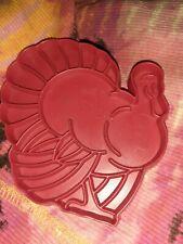 Vintage Tom Turkey Tupperware Red Plastic Cookie Cutter Thanksgiving Free Ship