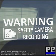 1 x 200mm - WARNING Safety Camera Recording Warning Stickers-CCTV Sign-Car,Taxi