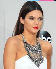 Rhinestones Crystal Silver Gypsy Bohemian Turkish Chunky Bib statement necklace