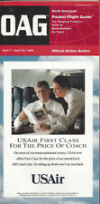 OAG Official Airline Guide North American pocket timetable 4/7/96 [0042]