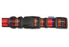 "Ancol Tartan Adjustable Nylon Collar Red Size 2-5 10""-20"" Dog Puppy Durable"
