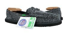 Sanuk Pick Pocket Knitster Black Shoes Womens Size 8 *NEW*