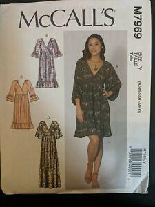 Mccalls Sewing Pattern 7969 Dress M7969 XS S M XSM-MED NEW