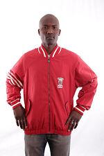 Ellesse Mens Vintage 80s Gabber Red Top Jacket Lined Polyester 50 L Casual Vgc