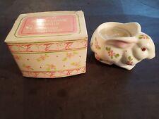 Avon Vintage Bunny Ceramic Planter Perfumed Candle Holder W / Box