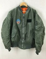 Alpha Industries MA-1 USAF Air Force Flight Jacket W/ F-14 Tomcat Patch Size XLT