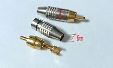 100pcs Metal soldering RCA Plug Audio Male Connector Gold Plated adapter