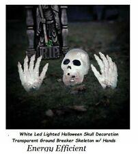 Led Light Halloween Graveyard Prop Skull Decoration Ground Breaker Skeleton Hand