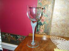 "RARE MIKASA ""Sea Mist"" Aqua Crystal Frosted Stem Tall Water Goblet Glass Stem"