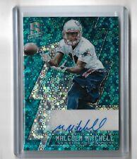 Malcolm Mitchell New England Patriots 2016 Panini Spectrum Neon Blue rookie auto