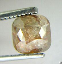 2.23Cts Rose Cut Diamond Natural Real Cushion Shape Peach Color 6.62x6.57x4.75MM