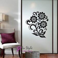 Wall Vinyl Decal Pretty Flowers Floral Decor Mural Sticker Sticker Kitchen 2022