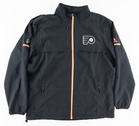 Adidas Mens XL NHL Philadelphia Flyers Vented Softshell Full Zip Jacket Black