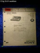 Sony Service Manual TPM 8000 / 8000B (#1949)