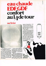 PUBLICITE  1968  EDF   l'eau chaude le confort