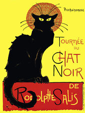 BLACK CAT Chat Noir Steinlen  Vintage Advertising Poster Repro 20x30 FREE S/H