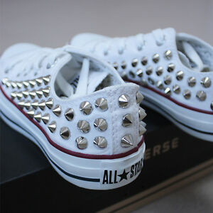 Genuine CONVERSE All-star low-top Studded Shoes White