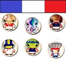 Stickers déco de bouton pour iphone ipad itouch méchant bonhomme rigolo - NEUF