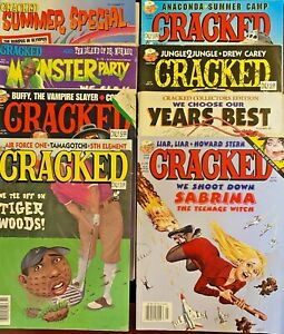 62 1990s Cracked Comic Magazines, Monster Party, Specials