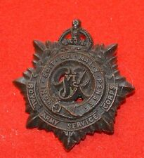 British Army. Royal Army Service Corps Genuine WW2 Plastic Cap Badge