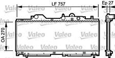VALEO Engine Cooling Radiator 731977 Fits FIAT Punto Hatchback 1994-2000