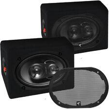 Hifonics VX 693 3 Wege oval Lautsprecher Paar inkl Gitter und Aufbau Gehäuse Box