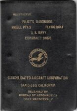 1942 CONSOLIDATED PBY-5 CATALINA FLYING BOAT PILOTS FLIGHT MANUAL HANDBOOK-CD