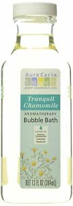 Aura Cacia Aromatherapy Bubble Body Bath Tranquil Chamomile, 13 Ounce, 4 Pack