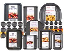 Premium Non Stick Bakeware Oven Tray Sheet Baking Cake Tin Pan Multiple Sets