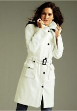 Vivien Caron Mantel Gr.34 Neu Damen Jacke Offwhite/Weiß Wintermantel mit Gürtel