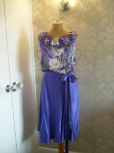 COAST purple print evening dress size 18 - BNWT