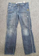 Q053 G-Star Originals Raw Denim R33/01 Industrial Distressed Jeans, 30W 32L