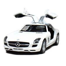 "Brand New 5"" Kinsmart Mercedes Benz SLS AMG Diecast Model Toy Car 1:36 WHITE"
