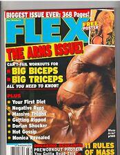 FLEX bodybuilding muscle mag/BIG ARM ISSUE/Lisa Dulovic+Lee Priest poster 6-02