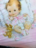 Birth Announcements Vintage Pink 10 Cards & Envelopes Sealed